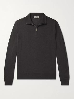 Canali Slim-Fit Merino Wool Half-Zip Sweater