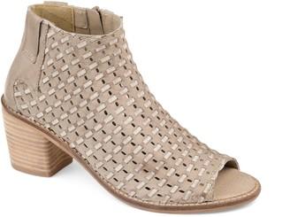 Journee Collection Journee Signature Devine Women's Peep Toe Ankle Boots