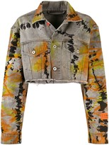 Heron Preston cropped denim jacket