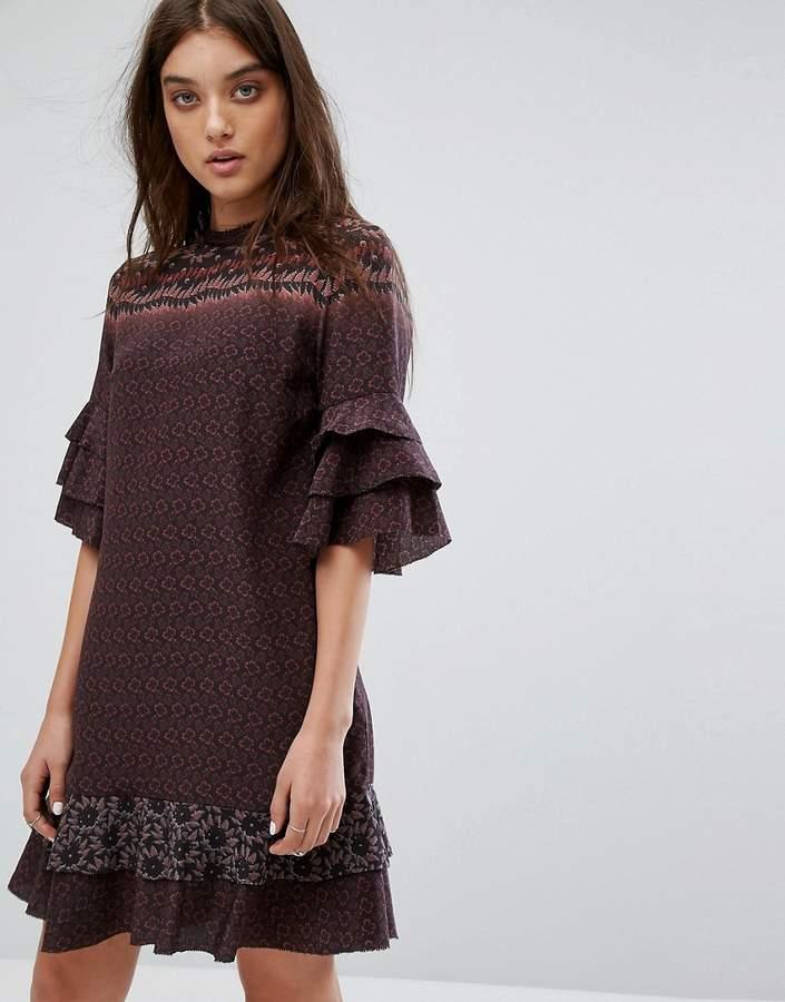 AllSaints Rayen Anokhi Dress in Silk