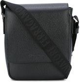Salvatore Ferragamo textured messenger bag - men - Calf Leather - One Size