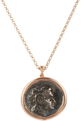 Rosegold Roman Coin Pendant Necklace