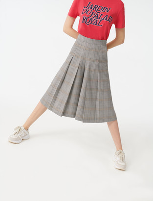 Maje Checked Bermuda-style trousers