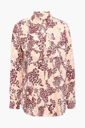 Equipment Leopard-print Silk-blend Shirt