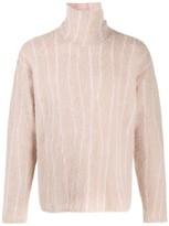 Paura striped turtle-neck sweater