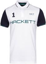 Hackett Sport White Tipped Short Sleeve Polo Shirt