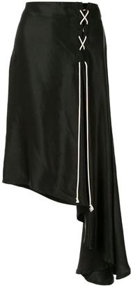 Ann Demeulemeester Asymmetric Lace-Up Skirt