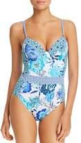 Bleu Rod Beattie Underwire Printed One Piece Swimsuit