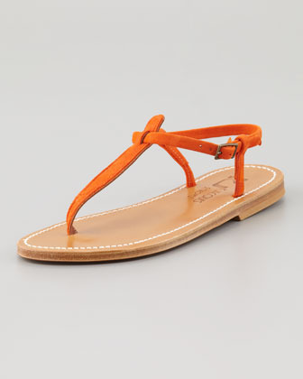 K. Jacques Picon T-Strap Thong Sandal, Red