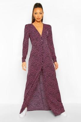 boohoo Tall Leopard Print Maxi Dress