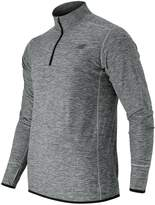 New Balance Men's Space-Dyed Quarter-Zip Pullover