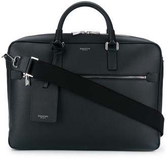 SERAPIAN Textured Briefcase