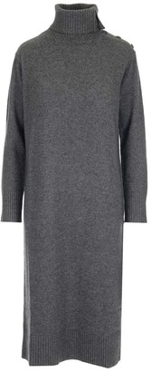 Max Mara Turtleneck Knit Long Dress
