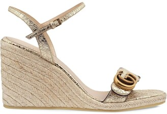 Gucci GG buckle wedge sandals