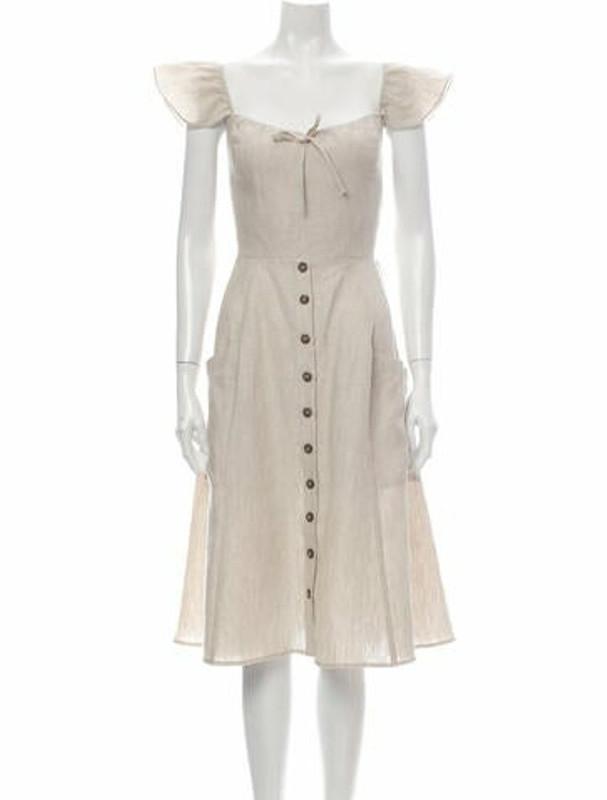 Reformation Linen Knee-Length Dress