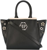 Philipp Plein top handle tote - women - Leather/Polyester - One Size