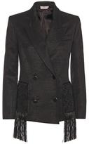 Edun Fringed Wool-blend Jacket