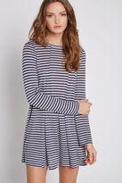 BCBGeneration Striped Open-Back A-Line Dress