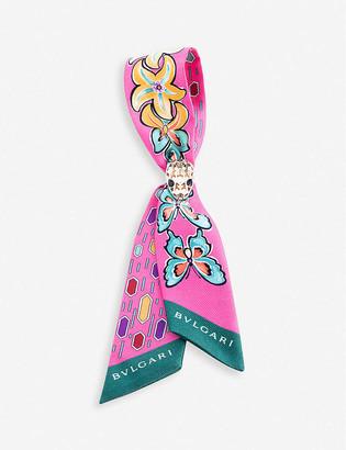 Bvlgari B Fly Tie-Me Shelley silk scarf