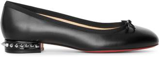 Christian Louboutin La Massine black leather flat