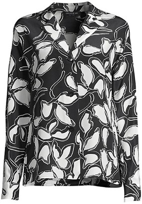 Lafayette 148 New York Mariabella Floral Silk Blouse