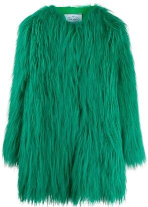 Prada textured fur coat