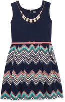 Beautees Sleeveless Skater Dress - Big Kid