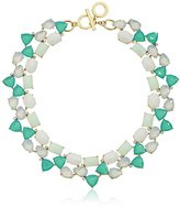 """Anne Klein St. Barths"""" Gold-Tone Green and Crystal Drama Collar Necklace, 20"""""""