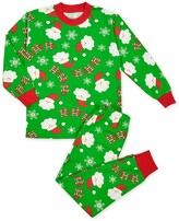 Sara's Prints Boys' Loose Fit Santa Print Pajama Set