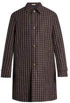 Boglioli Checked Cotton-blend Trench Coat