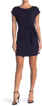 Vanity Room Cap Sleeve Side Tie Knit Dress