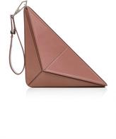Cushnie et Ochs Max Leather Triangle Clutch