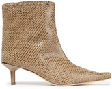 Thumbnail for your product : Miista Shelly Woven Leather Ankle Boots