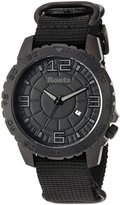 Roots Men's 'Core' Quartz Stainless Steel and Nylon Casual Watch, Color: (Model: 1R-LF602BA7B)