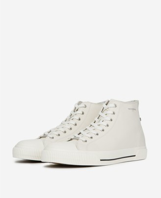 The Kooples White high-top trainers in smooth leather