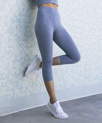 Jupee Women's Casual Pants Denim - Denim High-Waist Capri Leggings - Women
