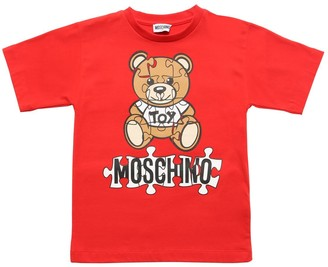 Moschino Toy Bear Print Cotton Jersey T-shirt
