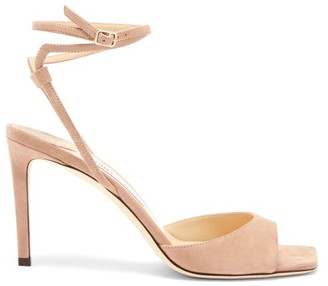 Jimmy Choo Mori Wraparound-strap Suede Sandals - Light Pink