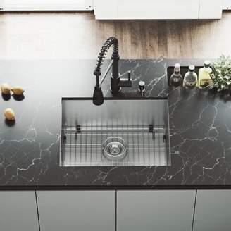 """Ludlow VIGO 23"""" L x 18"""" W Undermount Kitchen Sink with Faucet VIGO"""