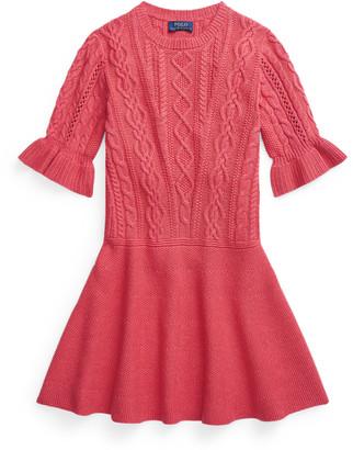 Ralph Lauren Aran-Knit Cotton Jumper Dress