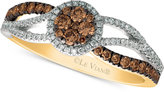 LeVian Le Vian Chocolatier® Diamond Twist Ring (1/2 ct. t.w.) in 14k Gold and White Gold