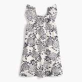 J.Crew Girls' flutter-sleeve dress in pineapple print