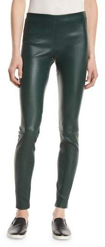 Vince Leather Zip-Cuff Leggings