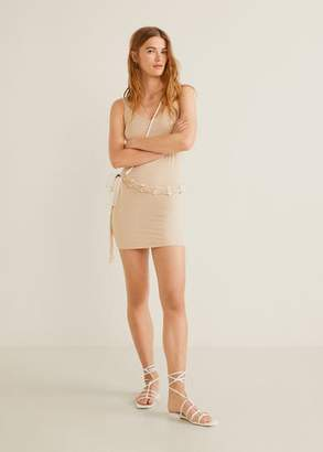 MANGO Straps basic dress beige - 4 - Women