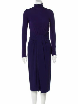 Vionnet Long Sleeve Midi Dress w/ Tags Navy