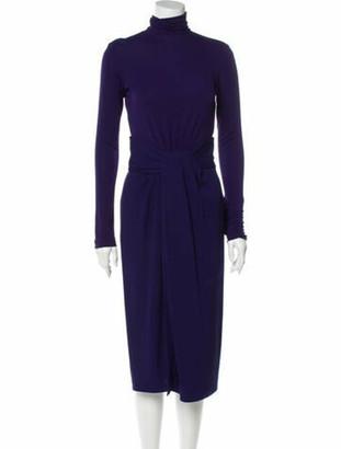 Vionnet Long Sleeve Midi Dress w/ Tags Navy