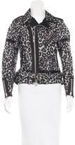 Sacai Leopard Print Moto Jacket