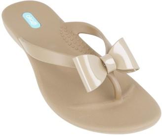 OKA b. Oka-B Dainty Bow Thong Sandals - Cassina