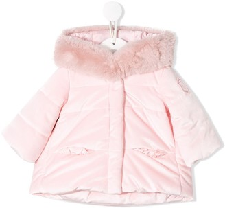 MonnaLisa faux-fur trimmed padded jacket