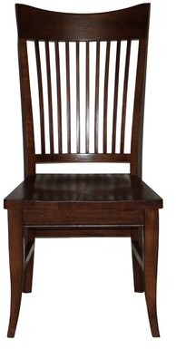 Darby Home Co Lacon Curved Spindle Back Seat Solid Wood Dining Chair